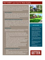 Rettew Fact Sheet: Lawn Care for Water Quality