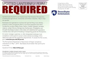 Spotted Lanternfly Permit required for businesses and organizations
