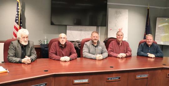 Board of Supervisors: left to right Richard Landis, Ron Krause, Ben Bruckhart, Gary Stevens, Tom Walsh