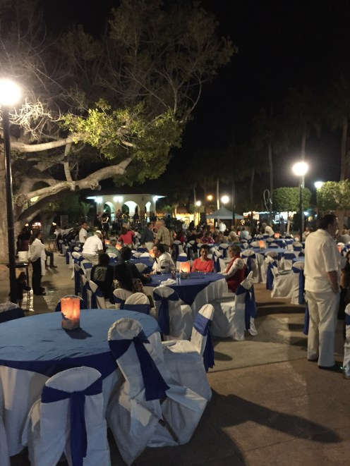 El Centro Loreto... One of many nights of community activities. This was the wrap up for the Blue Whale festival.