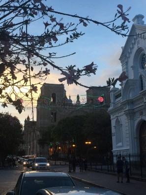 Cuenca evening street scene