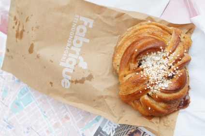Cinnamon bun from Fabrique - a must try!