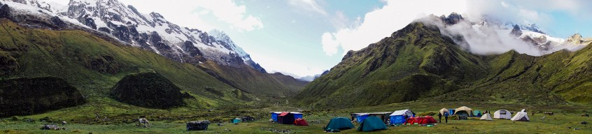 Huaramachay camp in the morning