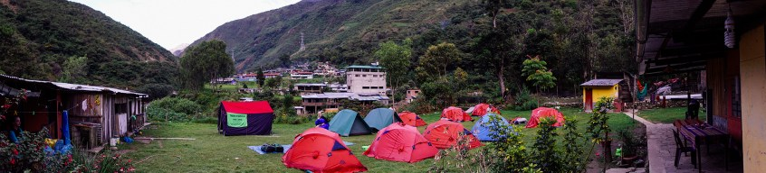 Campsite at La Playa