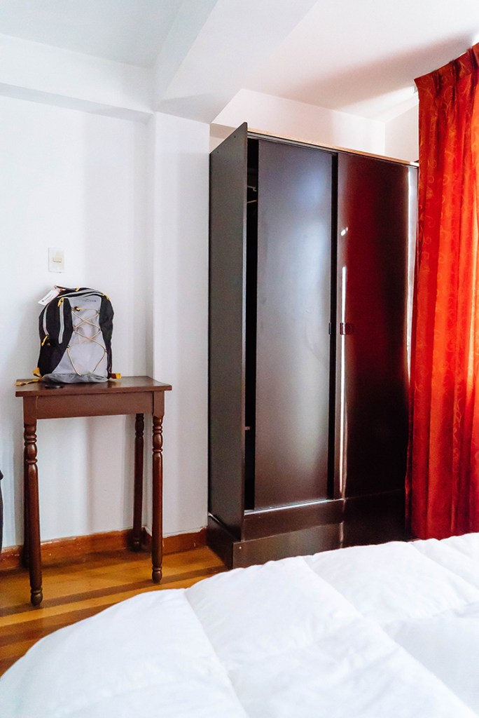 Storage for clothing and luggage.