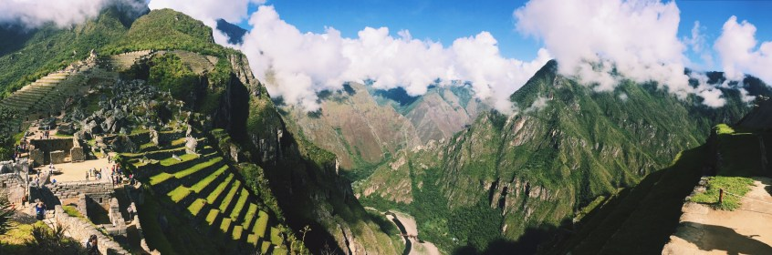 From this vantage at Machu Picchu, you can see the ruins of Llactapata across the valley, where we camped on the 3rd night.
