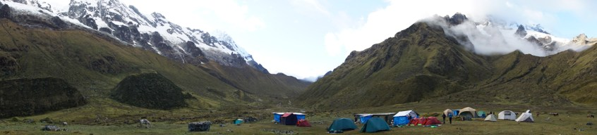 Our campsite on the first night.