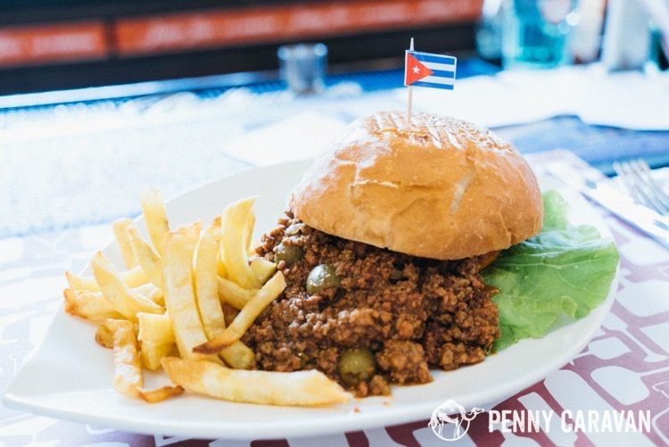 The original Sloppy Joe sandwich $6 CUC