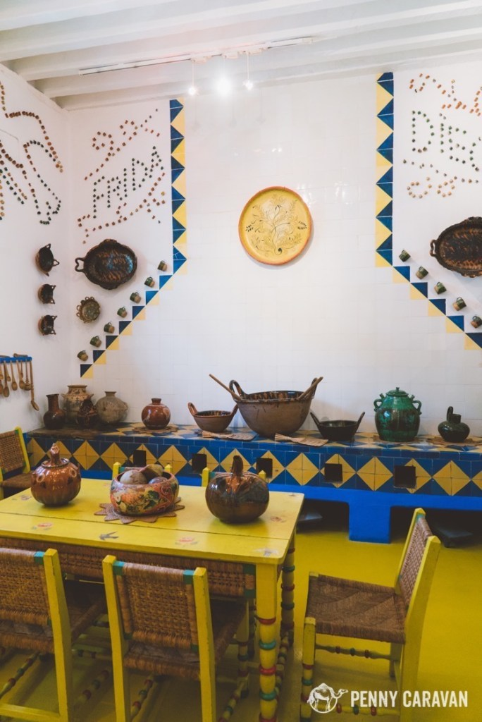 Frida's kitchen at Casa Azul.