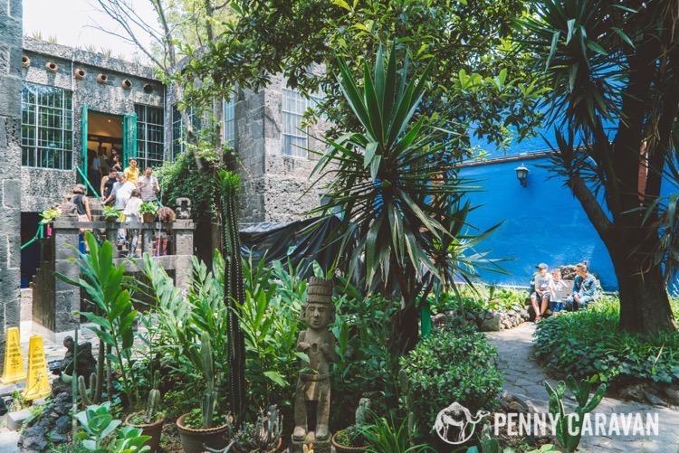 The courtyard at Casa Azul.
