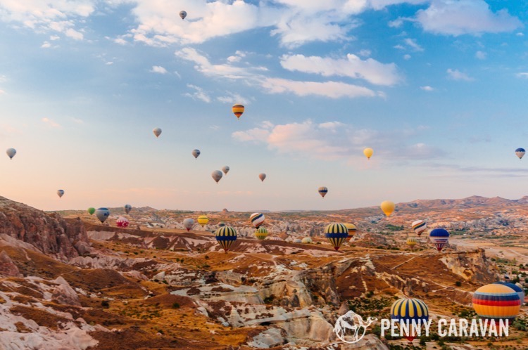 Our hot air balloon ride in Cappadocia was a highlight of the trip.