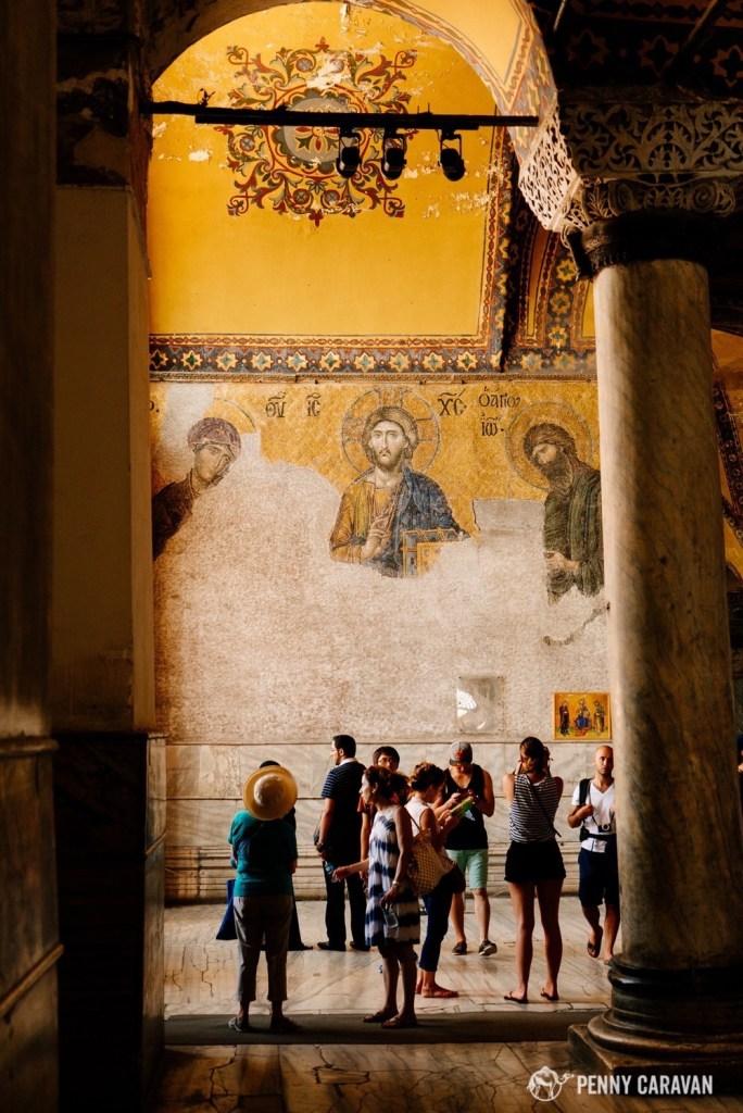 Christ Pantocrator mosaic.