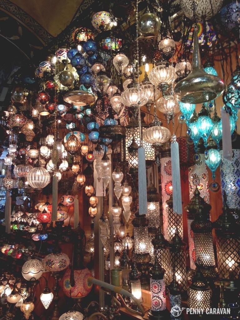 Lamp shop in the Grand Bazaar.