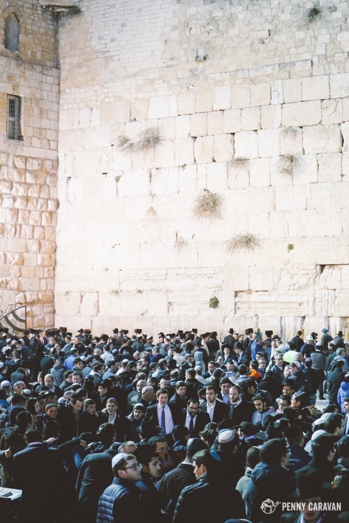 The Western Wall on Friday evening