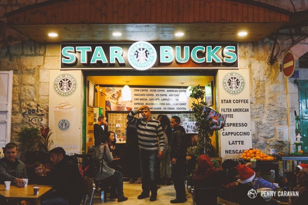 "One of the many ""Starbucks"" we saw in Bethlehem."