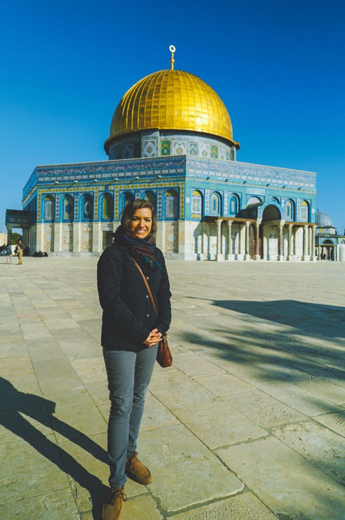 Iylana at the Dome of the Rock.