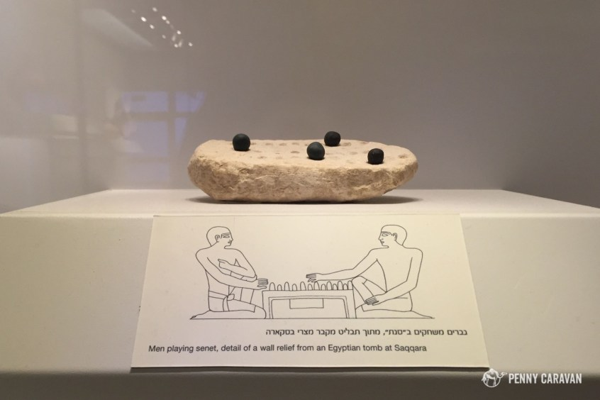 It was awesome to see pieces from other places we've been, like this game that was found at Saqqara.