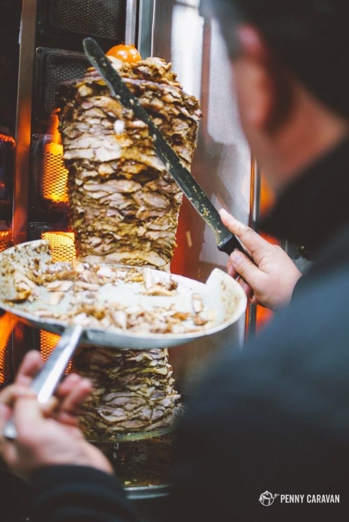 Shawarma in Bethlehem.