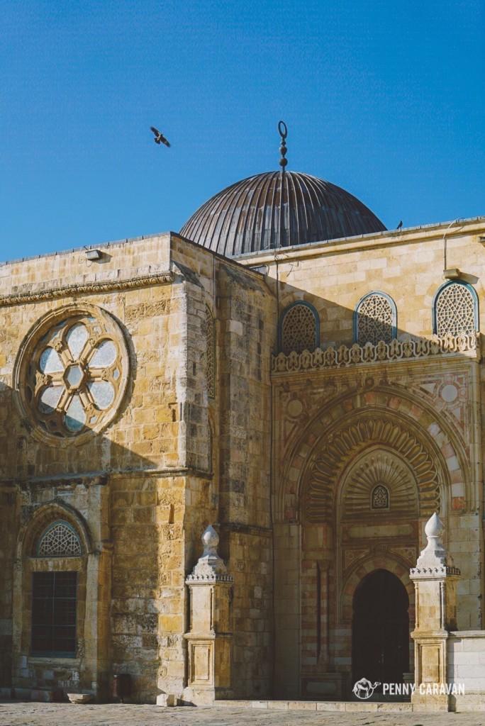 Eastern side of Al-Aqsa Mosque.