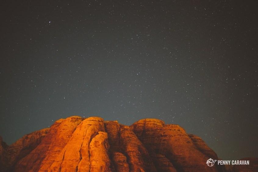 The incredible night sky in the Wadi Araba desert.