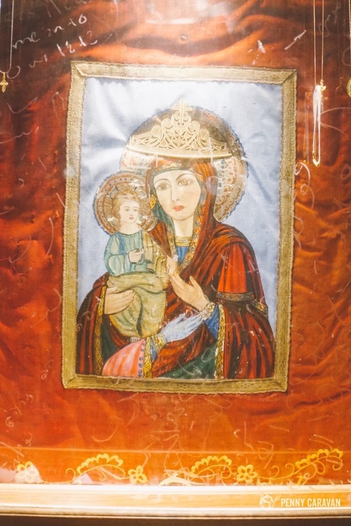 A beautiful icon in the grotto.