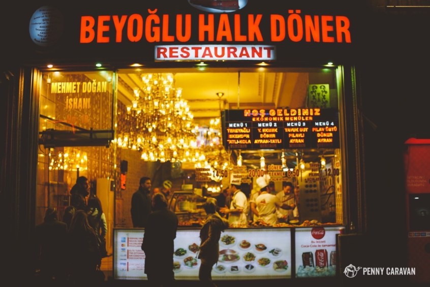 Fantastic point-and-pick restaurant right on Istiklal Street.