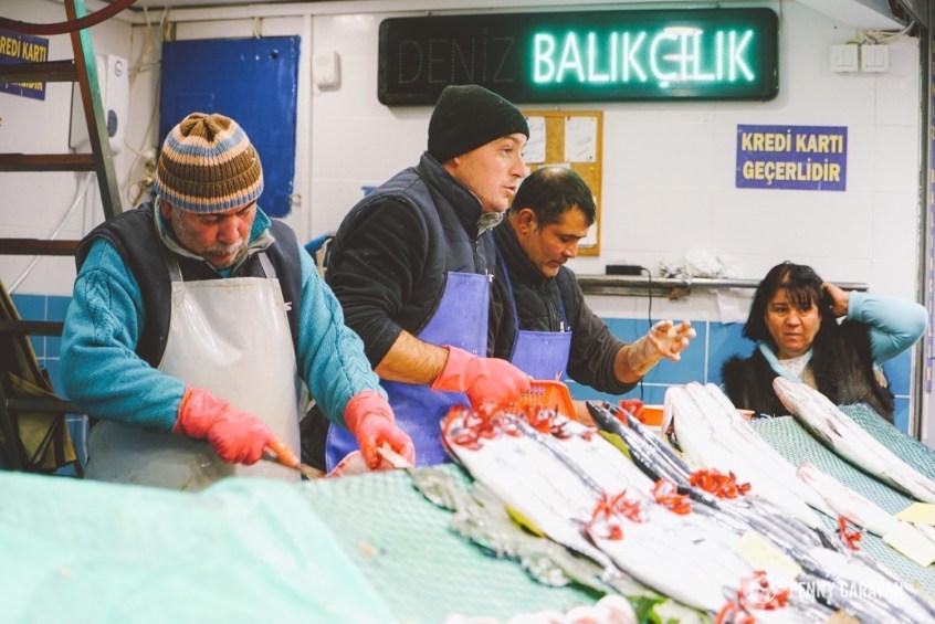 Kadikoy fishmongers.