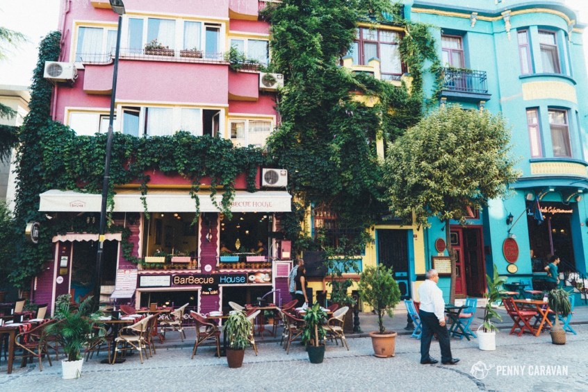 Sultanahmet is lined with beautiful restaurants.