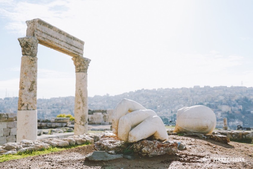 Giant hand and elbow fragments at Hercules Temple.