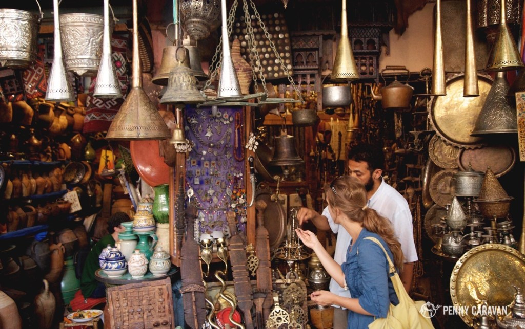Shopping in Marrakech, Morocco.
