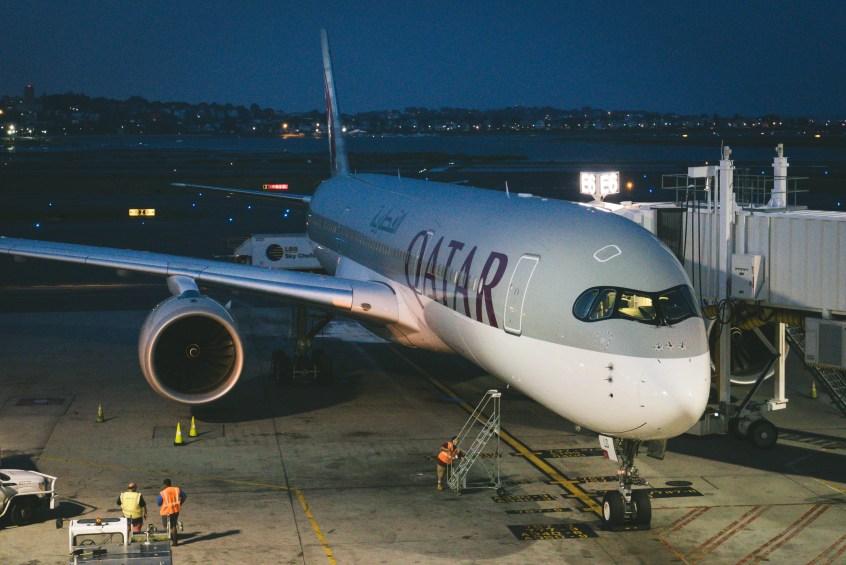 Qatar A350 BOS-DOH-11