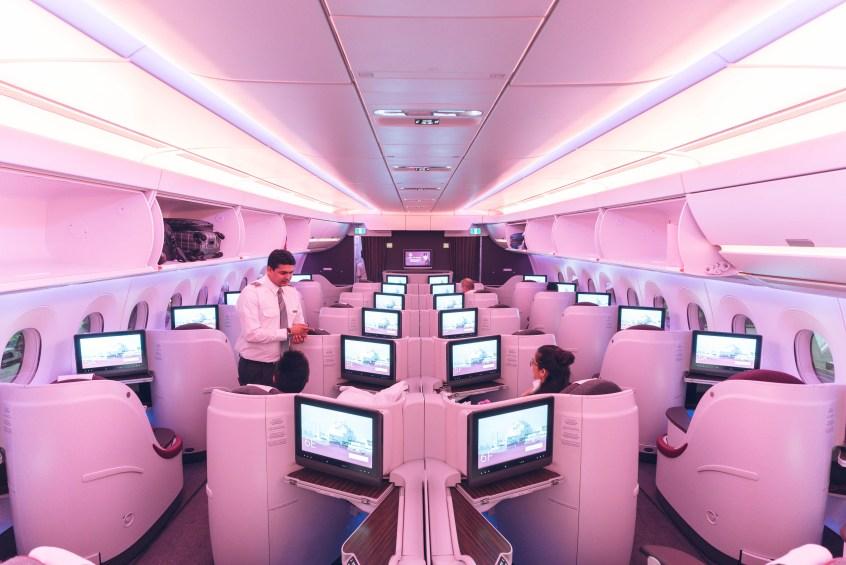 Qatar A350 BOS-DOH-15