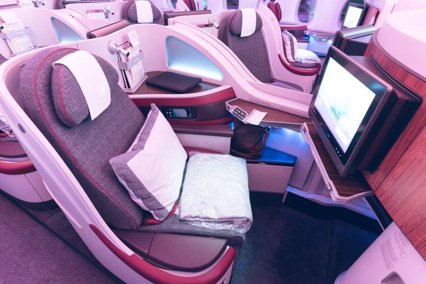 Qatar A350 BOS-DOH-16