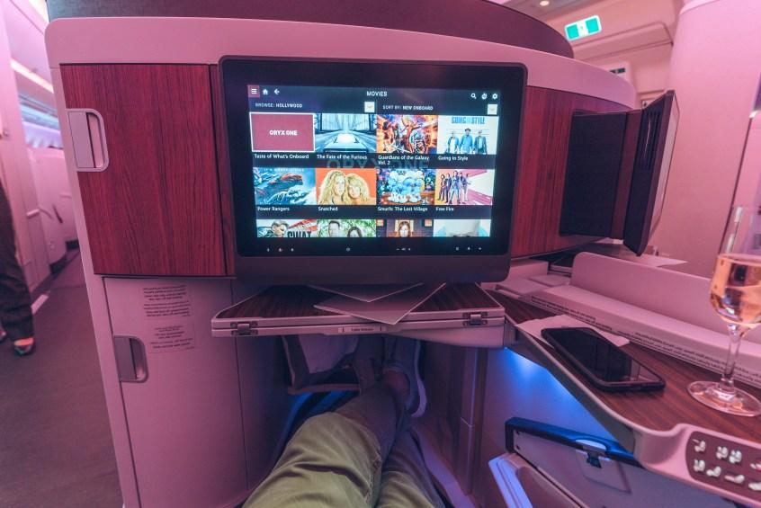 Qatar A350 BOS-DOH-23