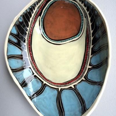 #487 Gorrogarah Binjdil Morning ceramic Dish