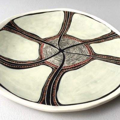 #593 Spirit Dreaming Ceramic Platter