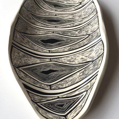 #583 Honey Cell Ceramic Platter
