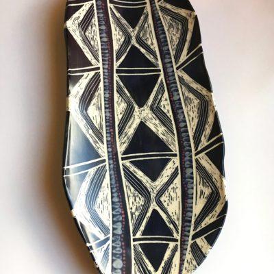 1003 Long Feathered Diamond Platter