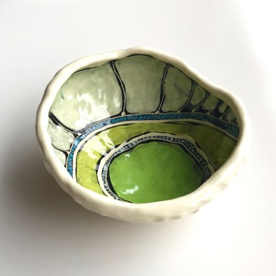 1280 Lime Giinbay pinched bowl