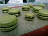 Recipe: Matcha Green Tea Macarons + Dark Chocolate Ganache