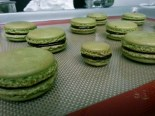 Recipe: Matcha Green Tea Macarons + Dark Chocolate Ganache