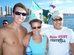 with her boys in Fortaleza, Br