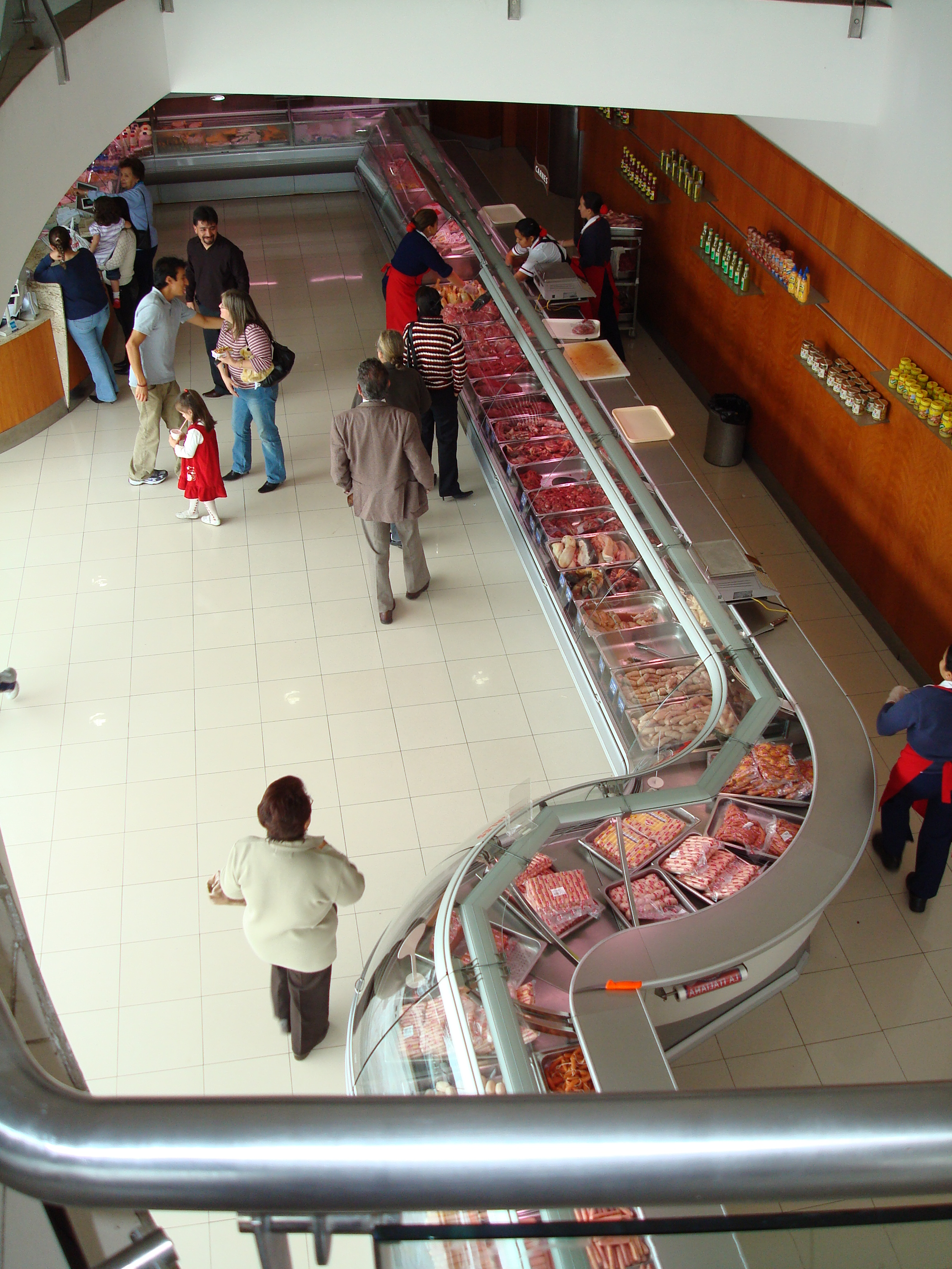 Meat markets are super clean and very well stocked