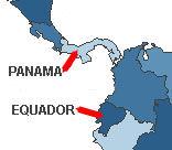 Short flight between Panama and Ecuador