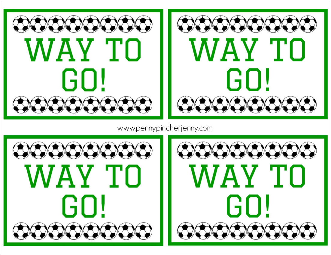 Way To Go Free Soccer Snack Printable