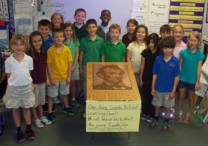 Mrs. Dupes second grade class at Corkscrew Elementary in Naples, FL. - Penny Portrait