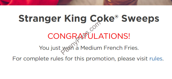 Burger King and Coke Stranger Things Instant Win! – Penny Puss