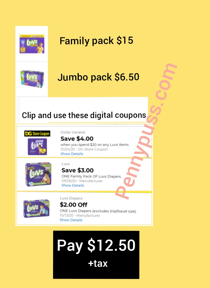 Luvs Diapers Deal At Dollar General Penny Puss
