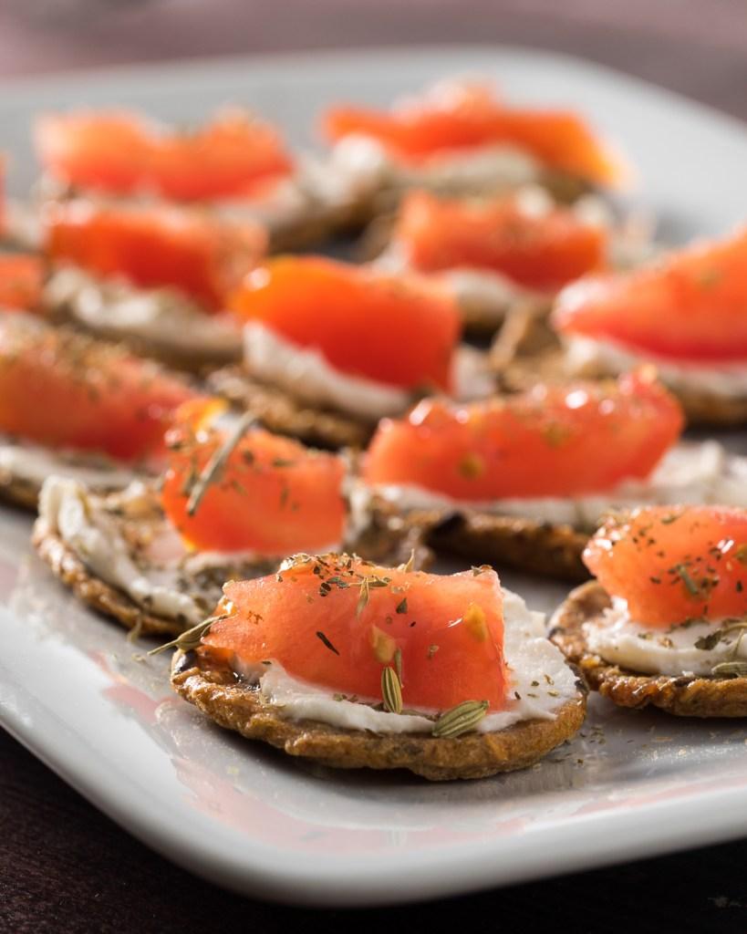 Tomato Cream Cheese Crackers (Vegan & Gluten Free)