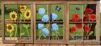 How to Make Painted Window Panes From Your Old Windows